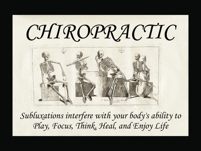 Chiropractic Subluxations Poster
